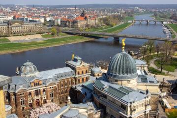 Dresden Aussicht auf Elbe