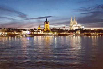 Köln Panorama Rheinufer
